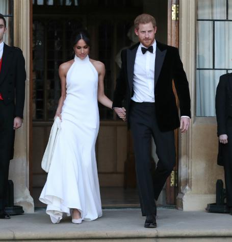 Второй свадебный образ Меган Маркл оказался еще красивее, чем подвенечное платье! Фото