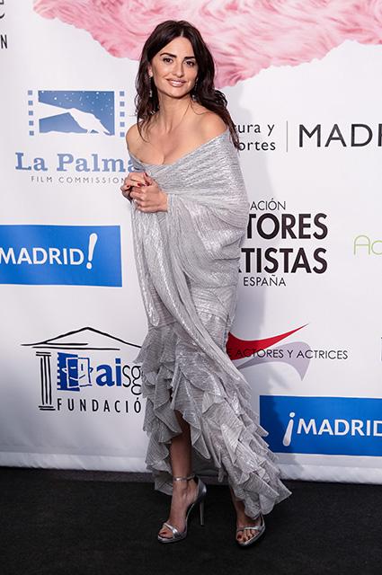 Пенелопа Круз в серебряном платье Balmain завороживает всех своей красотой. Фото