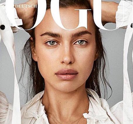 Ирина Шейк снялась для обложки Vogue без макияжа и даже прически. Фото