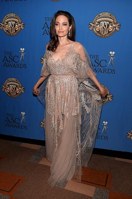 Анджелина Джоли в прозрачном платье Elie Saab удивила изящной хрупкостью. Фото