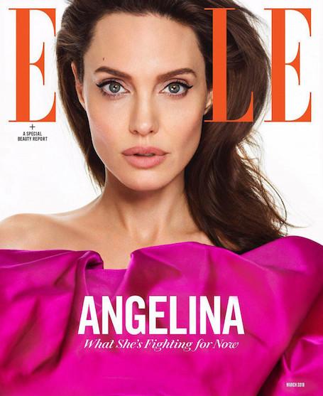 Анджелина Джоли в смелом платье в оттенке фуксия украсила обложку глянца. Фото
