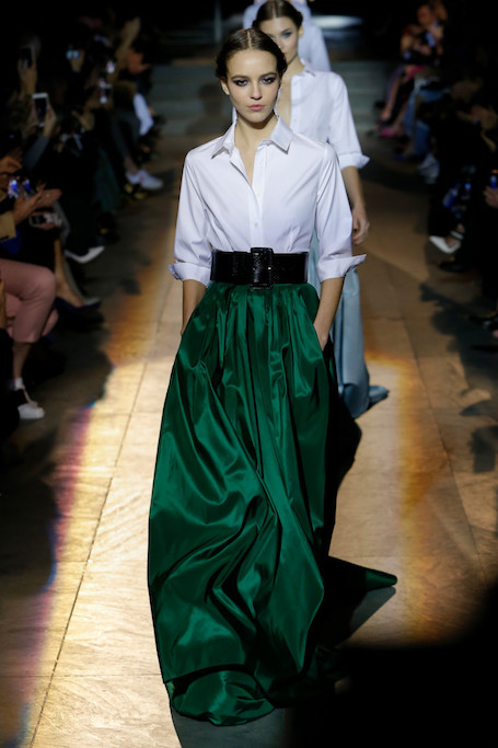 Прощальный показ Carolina Herrera на Неделе моды в Нью-Йорке. Фото