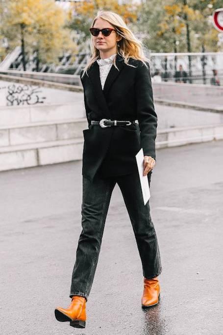 Нескучный черный: 20 модных образов для делового стиля. Фото
