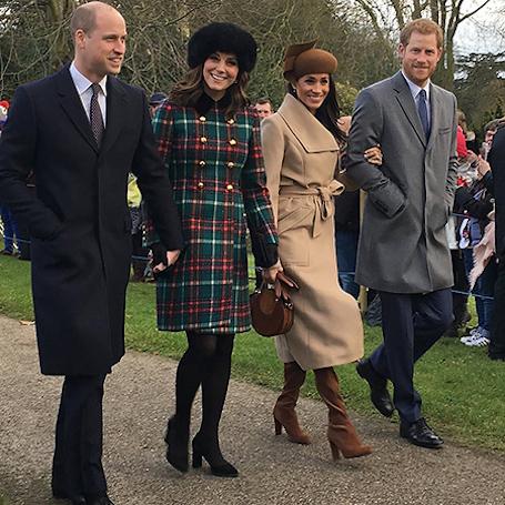 В Сети обсуждают самое красивое фото Миддлтон, Маркл и принцев, сделанное случайно