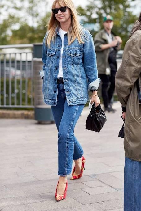 Самые модные способы носить джинсы и обувь на каблуке в 2018 году. Фото