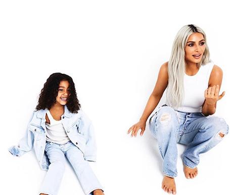 Ким Кардашьян с детьми, но без Канье Веста, снялась для рождественских открыток. Фото