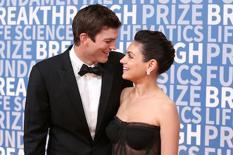Мила Кунис и Эштон Катчер сразили силой своей любви на Breaktrough Prize. Фото
