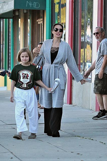 Анджелина Джоли поставила на уши весь родительский комитет школы по карате. Фото
