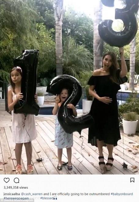 Беременная Джессика Альба надела майку, которая подчеркнула ее огромный живот! Фото