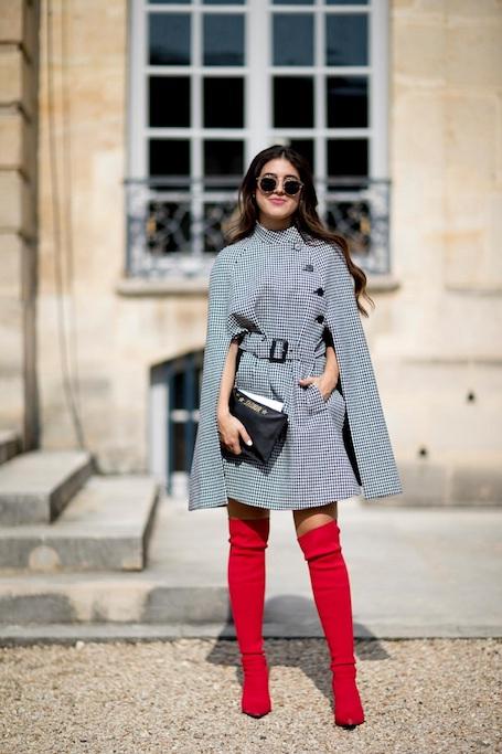 Красные ботфорты - однозначный must have сезона осень-зима 2017-18. Фото