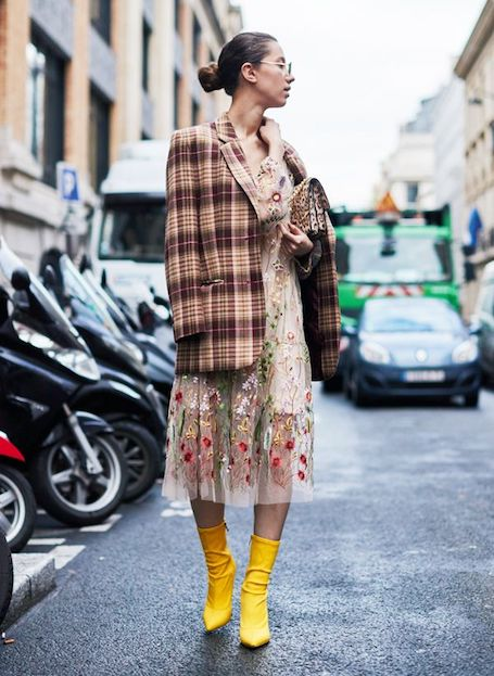 Уютный тренд сезона: 13 способов носить твид с клеткой тартан. Фото