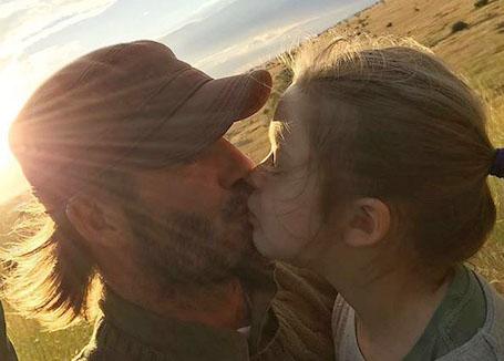 Дэвид Бекхэм и Харпер — трогательная история любви дочери и отца. Фото
