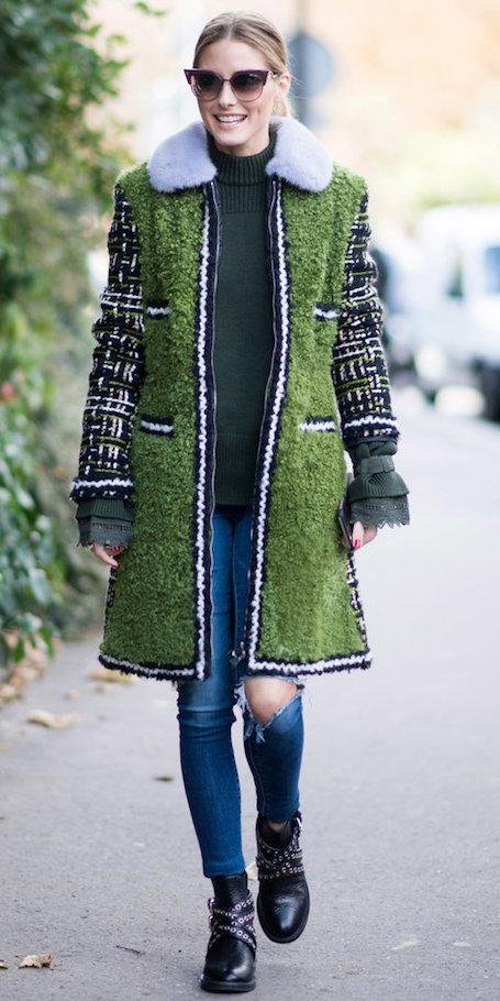 Оливия Палермо показала идеальное пальто с мехом для осени 2017. Фото