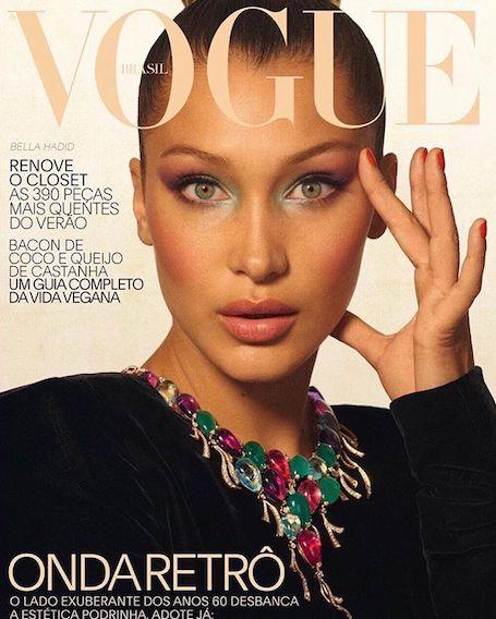 Белла Хадид для обложки Vogue примерила наряды на грани приличия! Фото