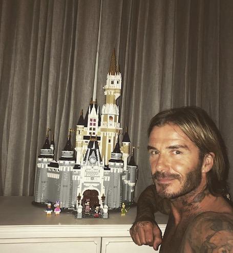 Дэвид Бекхэм построил для дочери свой собственный замок Disney за неделю! Фото