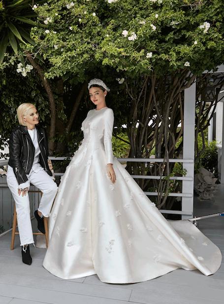 Тайная свадьба: Миранда Керр показала сказочное подвенечное платье Dior. Фото