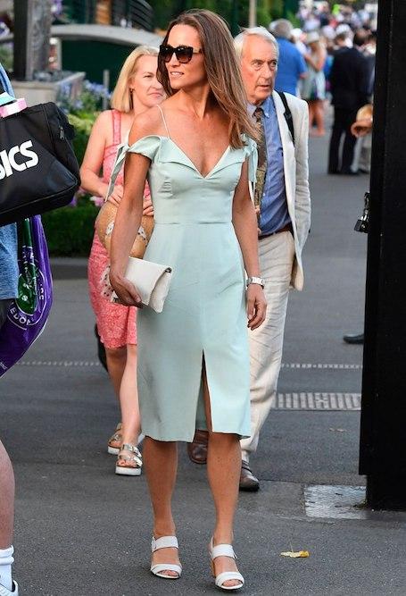 Пиппа Миддлтон в мятном коктейльном платье блистает на Уимблдоне. Фото