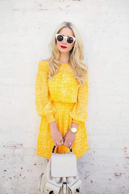 Мед и горчица: на пике моды платья желтых оттенков. Фото