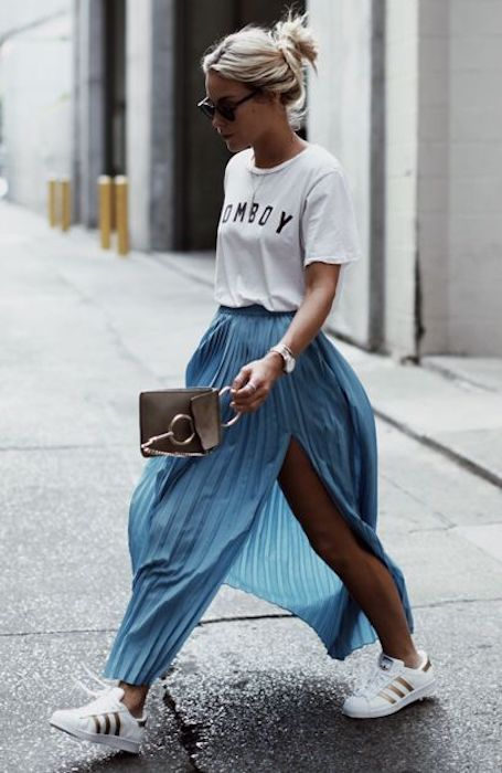 Модная длина сезона: как правильно носить миди-юбки этим летом? Фото