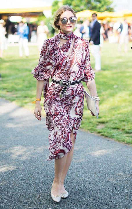 Оливия Палермо в летящем платье с цветочным принтом сама элегантность! Фото