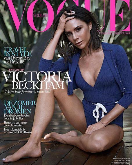 Виктория Бекхэм показала фигуру в бикини для глянца Vogue. Фото