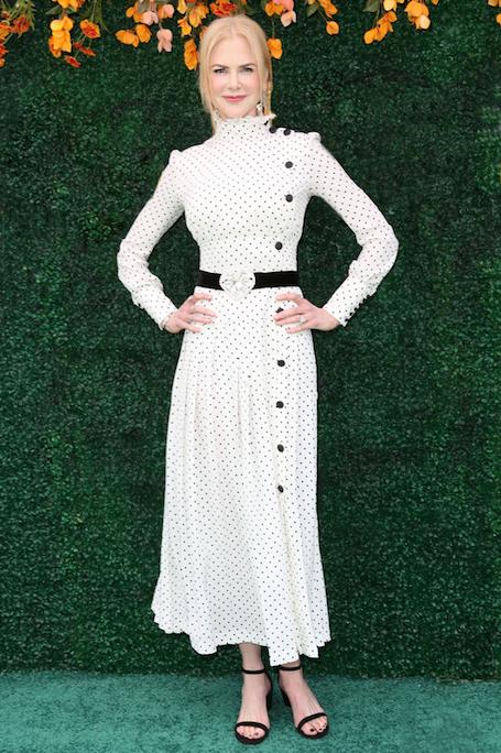 Николь Кидман диктует моду на ladylike и черно-белую гамму. Фото