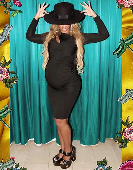 Беременная Бейонсе в примерочной Gucci устроила настоящий показ мод! Фото