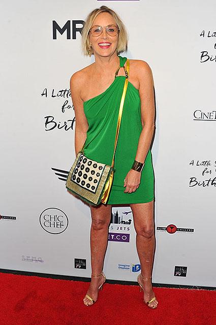 59-летняя Шэрон Стоун покоряет длинными ножками в ультракоротком платье! Фото