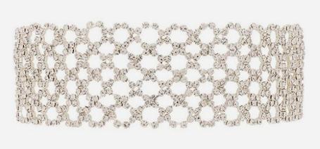 Обновленный тренд 2017: металлические чокеры с камнями. Фото