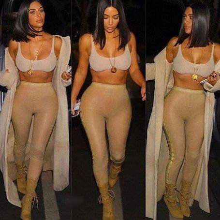 Ким Кардашьян снова разделась, чтобы показать, как сильно она похудела! Фото