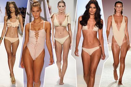 Купальники в цвет тела: nude завоевывает популярность! Фото