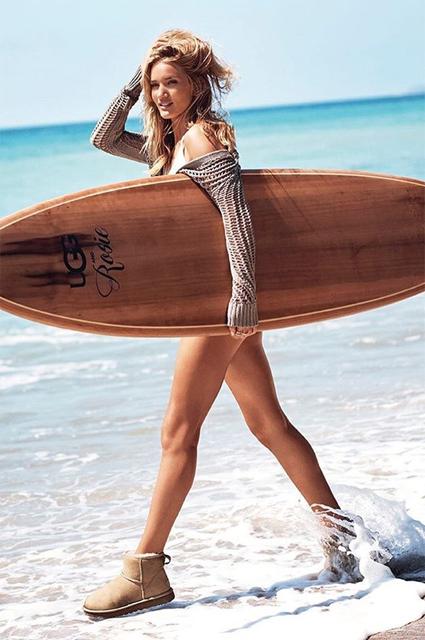 Беременная Рози Хантингтон-Уайтли снялась в нежной рекламе UGG. Фото