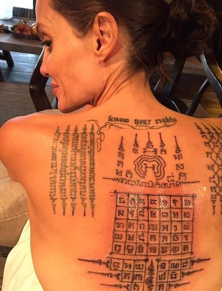Накануне развода Анджелина Джоли и Брэд Питт сделали парные татуировки! Фото