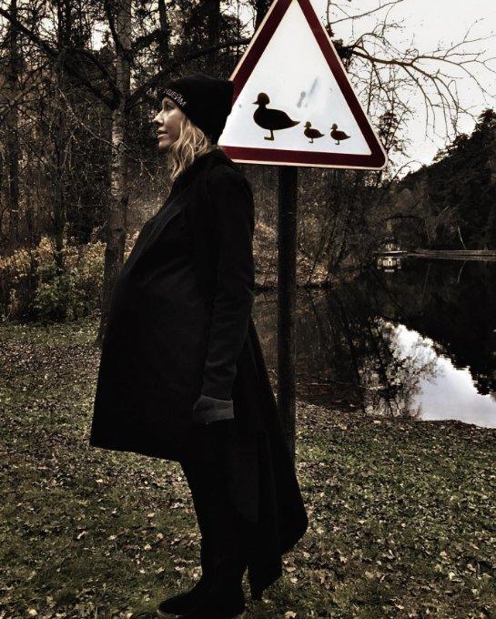 Ксения Собчак показала, как она выглядит на последнем месяце беременности