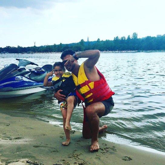 Муж Ани Лорак занимается с дочкой экстремальным видом спорта