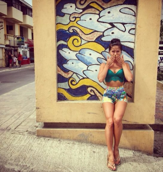 Певица Нюша отдыхает на Филиппинах