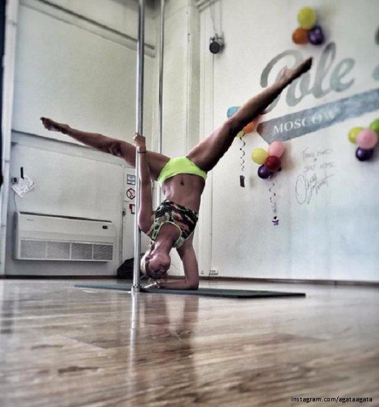Агата Муцениеце стала увлекаться танцами на шесте