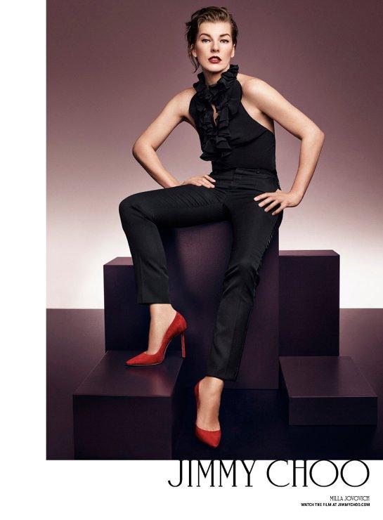 Милла Йовович снялась в рекламной кампании Jimmy Choo