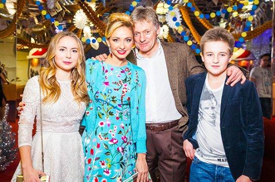 Татьяна Навка и Дмитрий Песков вышли в свет вместе с детьми