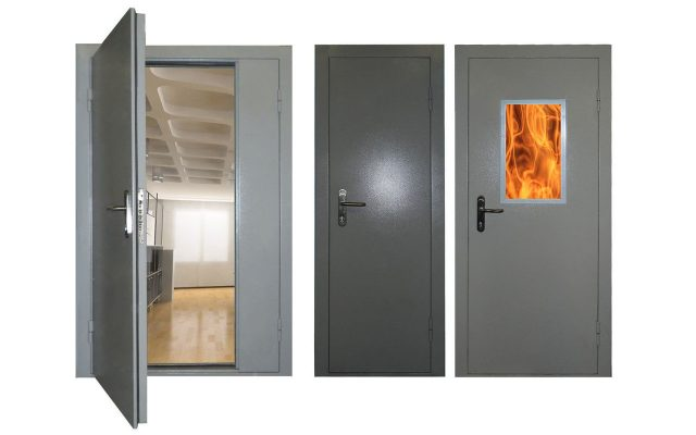 Высококачественные противопожарные металлические двери