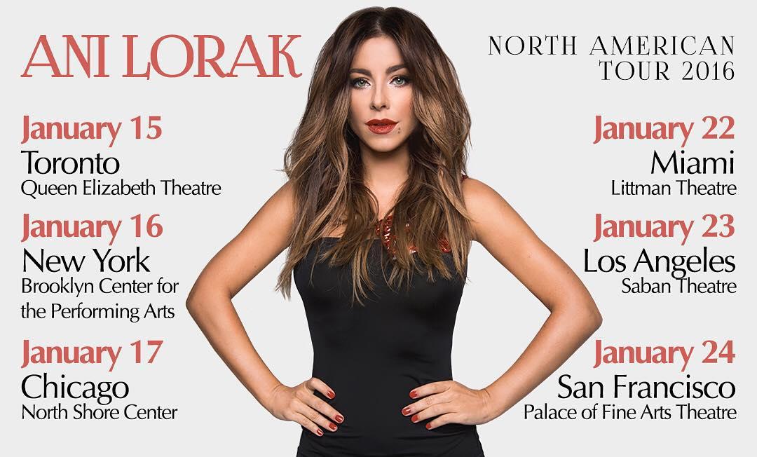 Ани Лорак отправилась на гастроли в США