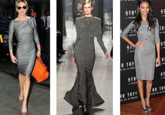 Серое платье - выбор со вкусом