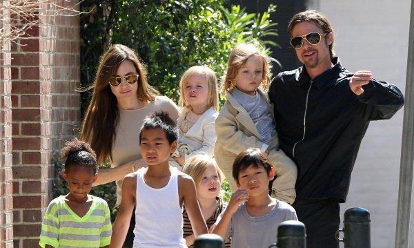 Брэд Питт и Анджелина Джоли наконец смогли разделить детей