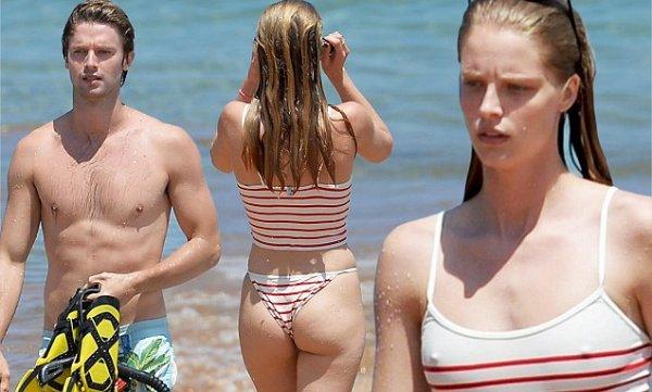 Папарацци застукали сына Шварценеггера на пляже с возлюбленной