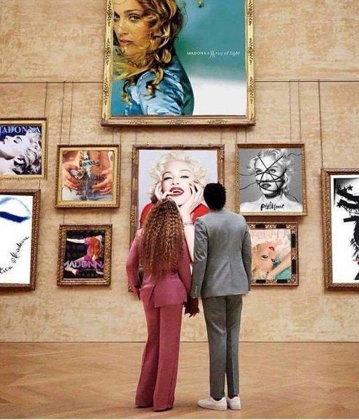 Мадонна подшутила над Бейонсе и Джей Зи и «переоформила» Лувр