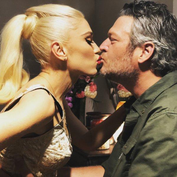 Вокалистка No Doubt слилась в поцелуе с Блэйком Шелтоном после концерта в Лас-Вегасе