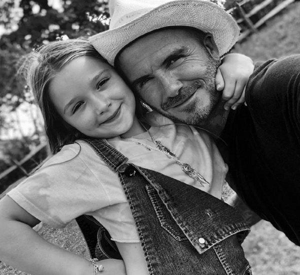 Эта принцесса совершенна во всём: Дэвид Бэкхем трогательно поздравил дочь