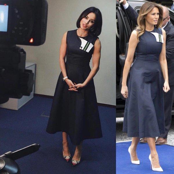 «Серая моль»: Модная Тина Канделаки превзошла невзрачную Меланию Трамп