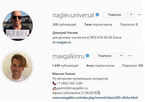 Фанаты выяснили, что у Нагиева в два раза больше, чем у Галкина