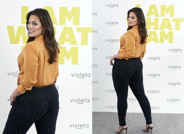 Эшли Грэм показала соблазнительную фигуру в обтягивающих джинсах с шипами